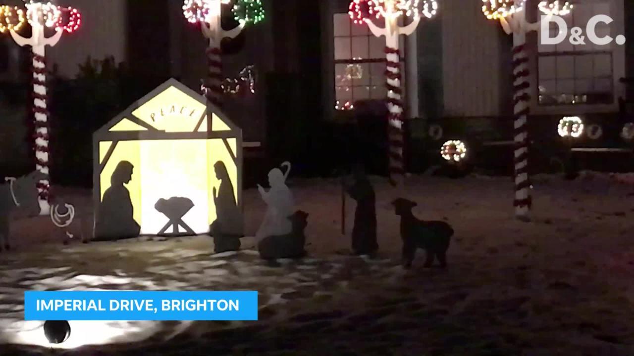 Lights brighten Imperial Drive in Brighton
