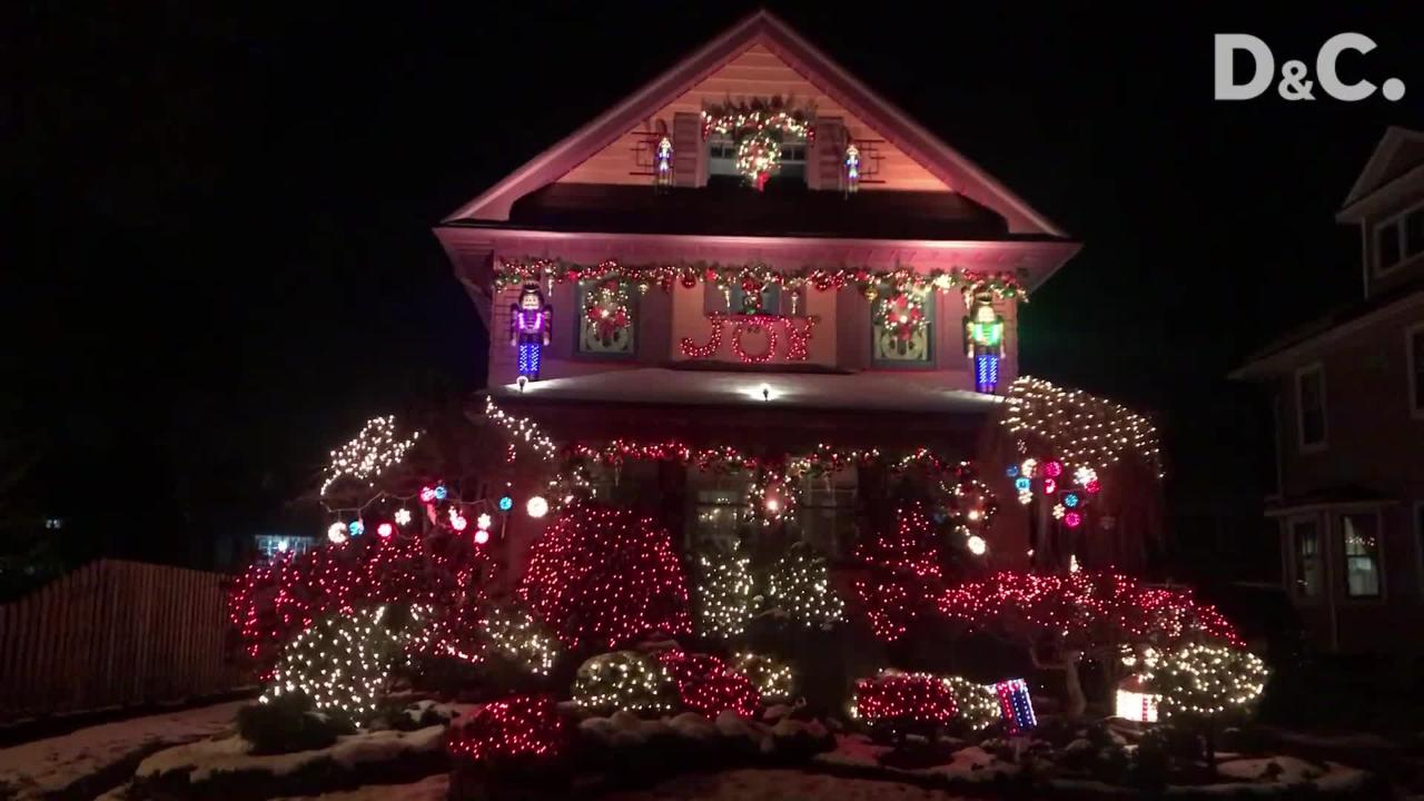 This Rochester house is covered with Christmas lights