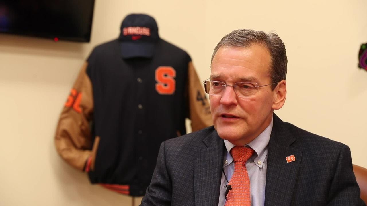 John Wildhack talks about his journey from working at ESPN to becoming the Syracuse University athletic director.