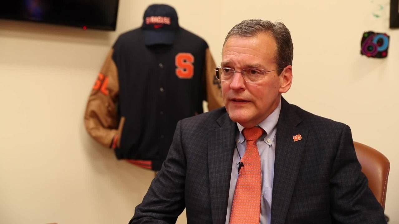 Syracuse Athletic Director John Wildhack says his coaches and players must play by NCAA rules and regulations or they won't be at SU any longer.