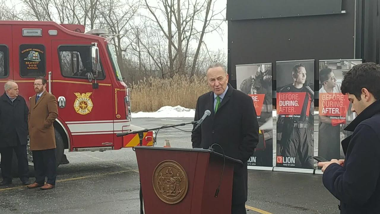 Senate Minority Leader Charles Schumer of Friday discussed the possibility of a government shutdown.