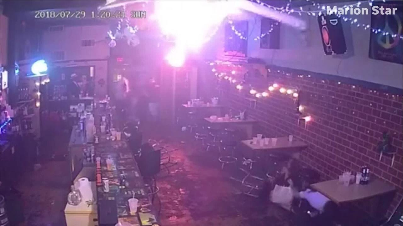 Prosecutors showed video from inside Gotham City bar at the time of the July shooting at the trial of Lloyd Hinton Jr. this week.