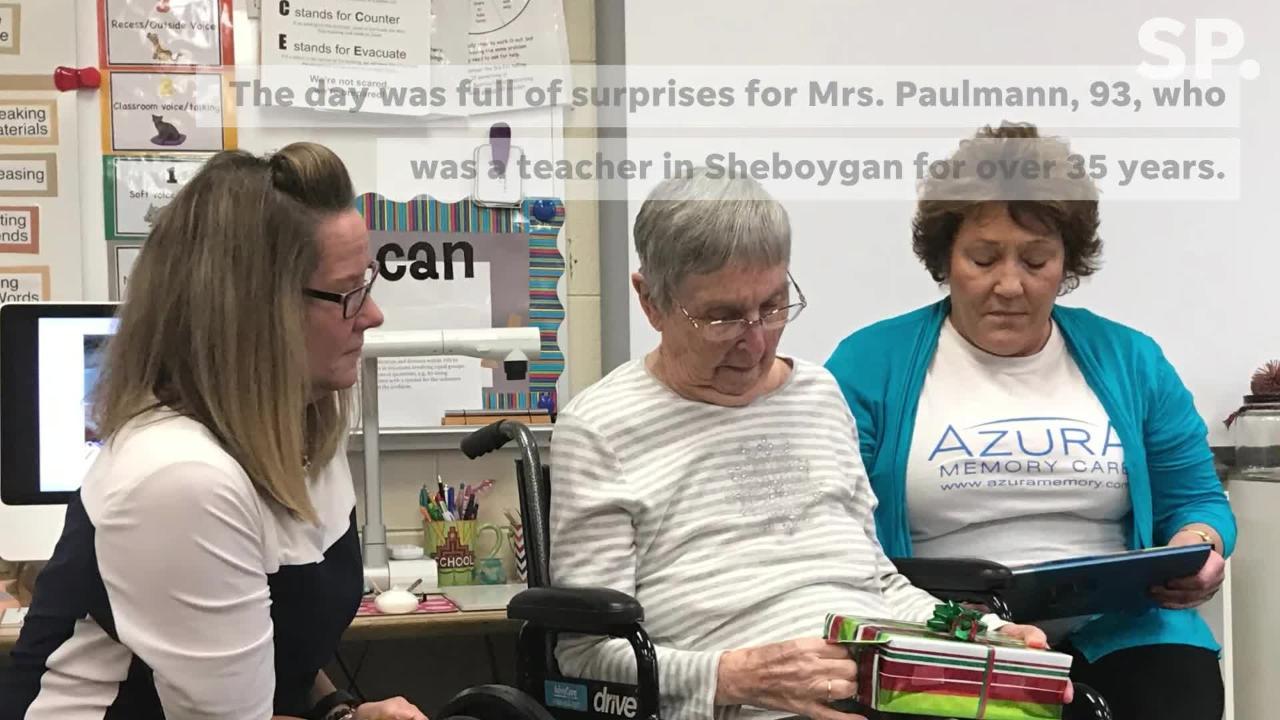 Eleanor Paulmann is a retired Sheboygan teacher who returned to the classroom on Thursday, Dec. 13 as part Azura Memory Care's MOSAIC Dreams Program.