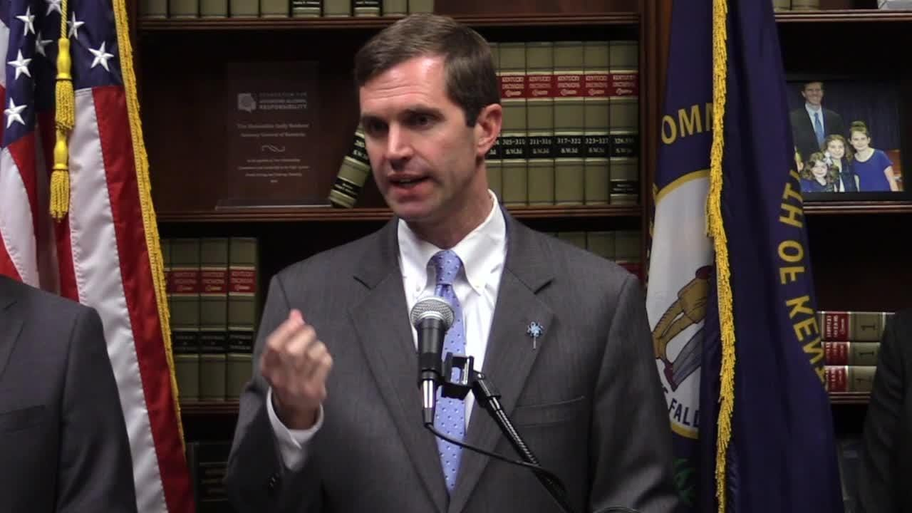 Kentucky AG Andy Beshear says expanded gaming, including online poker, would help with pension funding without raising taxes.