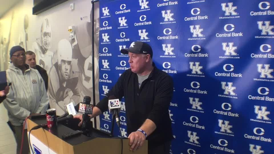 UK coach Mark Stoops looks ahead to Citrus Bowl practices.