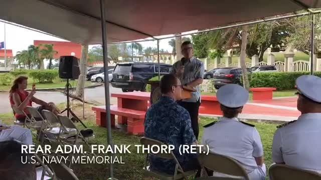 Navy and GovGuam officials on Saturday unveiled a Lone Sailor statue at Adelup to commemorate the over 110,000 Vietnam War refugees who came to Guam.