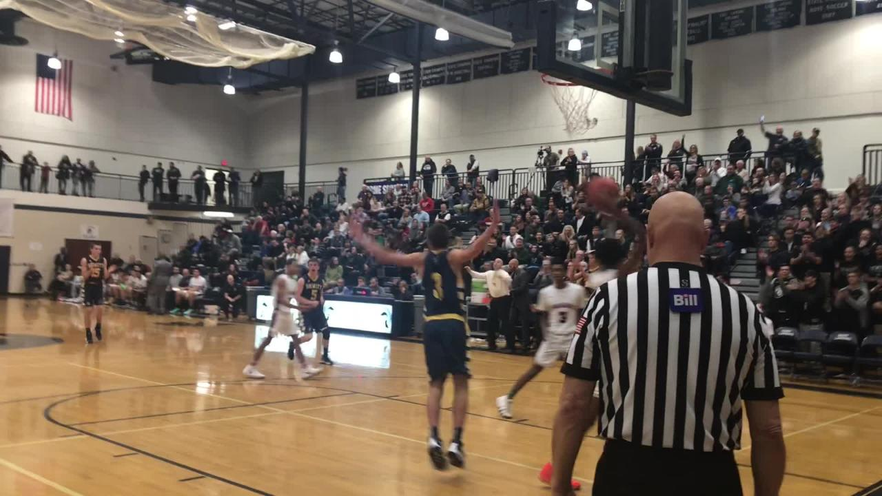 See clips from DeWitt's CAAC Blue win over East Lansing on Dec. 15, 2018 and hear remarks from Panther coach Bill Flannery.