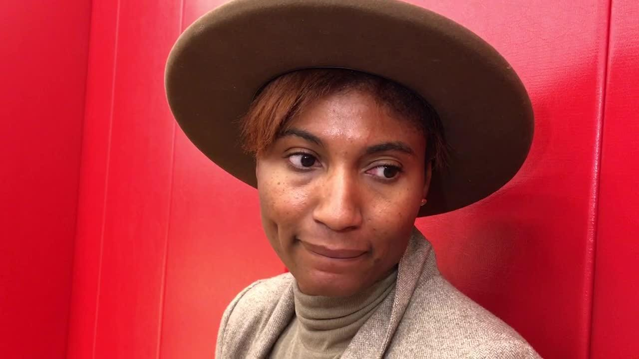 Louisville women's basketball great Angel McCoughtry talks after Final Four team recognition.