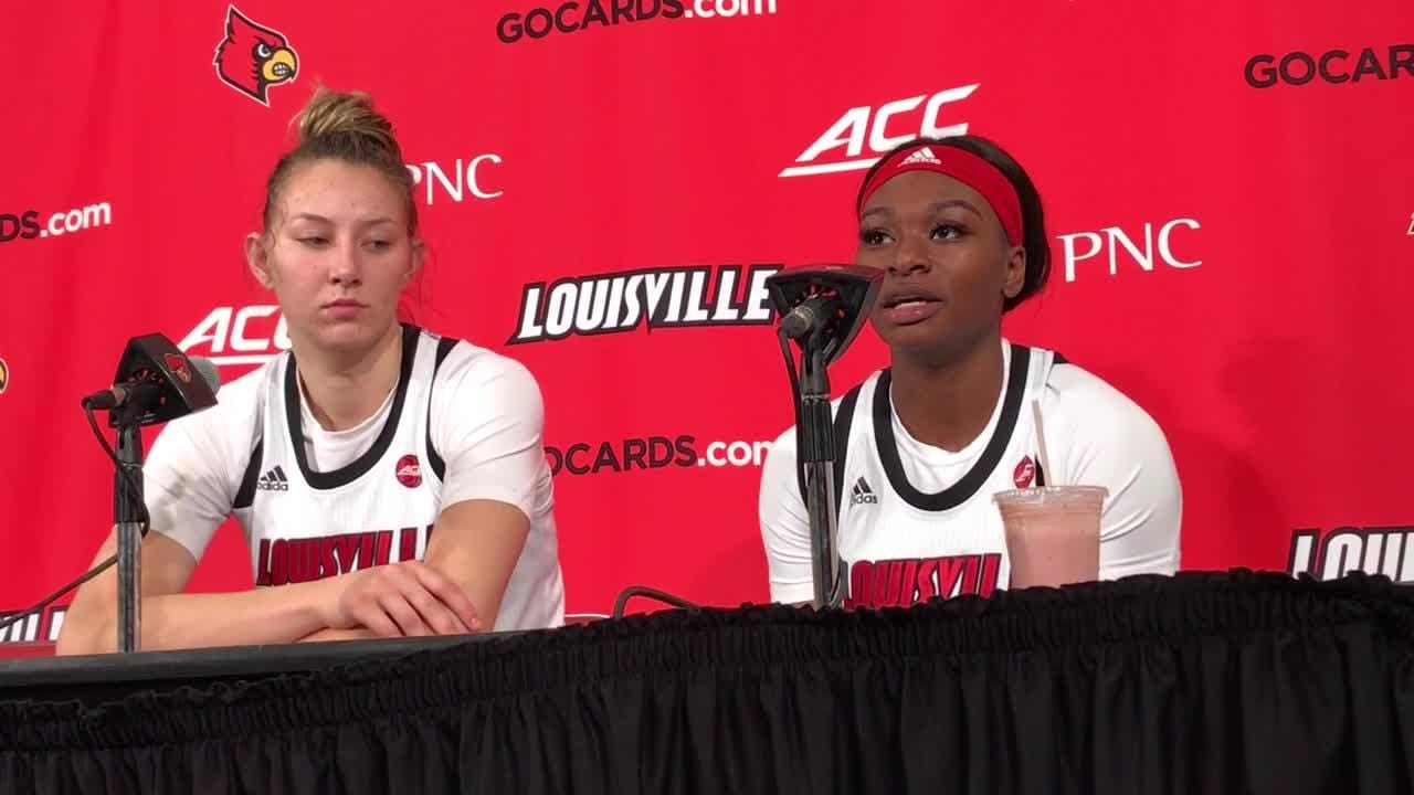 Dana Evans and Kylee Shook recap Louisville women's basketball win over Northern Kentucky in front of 2009 Final Four team.