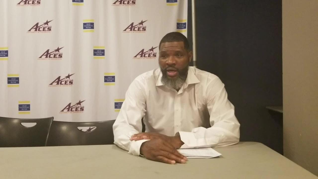 Evansville coach Walter McCarty breaks down Saturday's loss to Jacksonville State and the decision to go with Evan Kuhlman on the game's final shot.