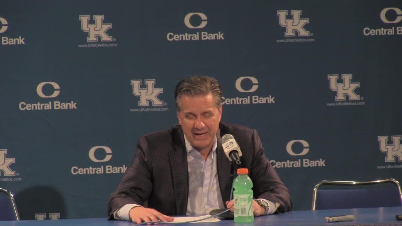John Calipari speaks after Kentucky's win over Utah