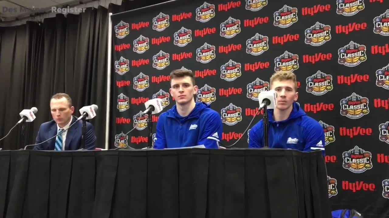 Drake point guard Nick Norton discusses the close loss to Iowa State in the Hy-Vee Classic.