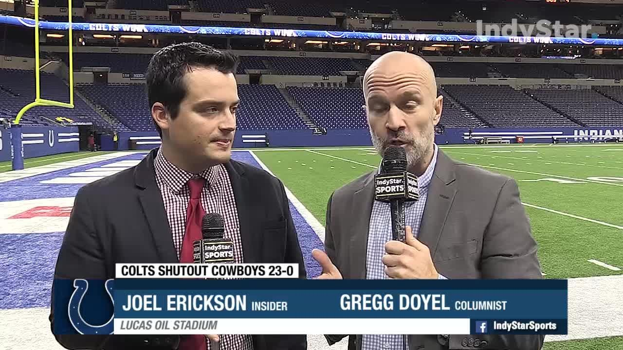 Insider Joel Erickson and columnist Gregg Doyel discuss the Colts dominating win over the Dallas Cowboys.