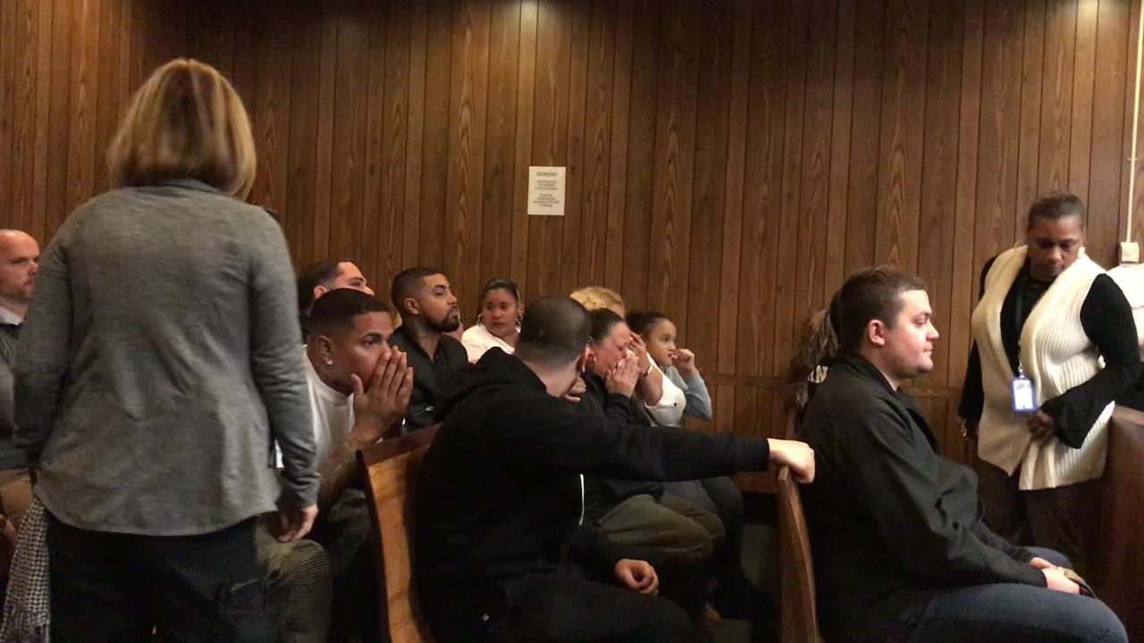 The family of Jose Rodriguez is stunned as a jury returns a not guilty verdict against three men accused of murder.