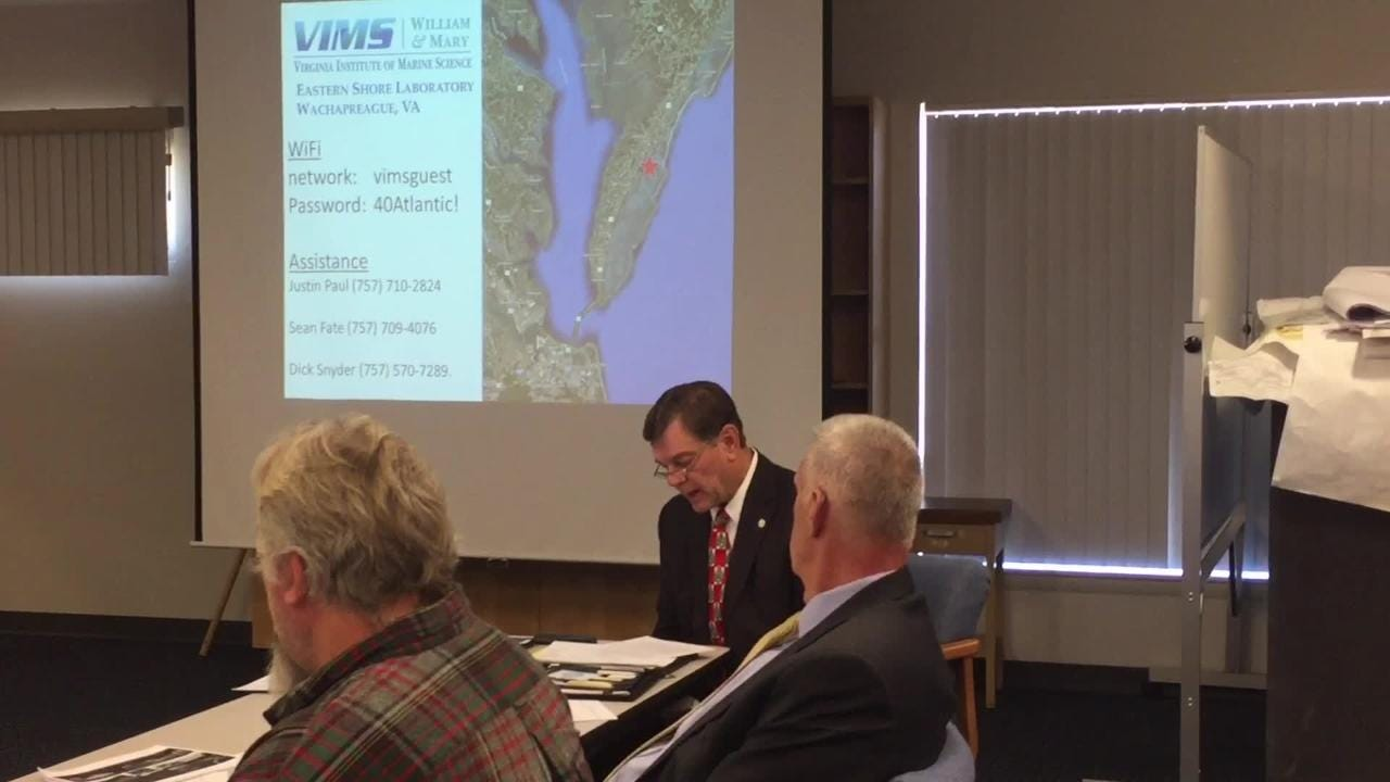 Spencer Murray, Northampton County Board of Supervisors chairman, spoke about sewer needs during a meeting of officials with Elaine Luria.