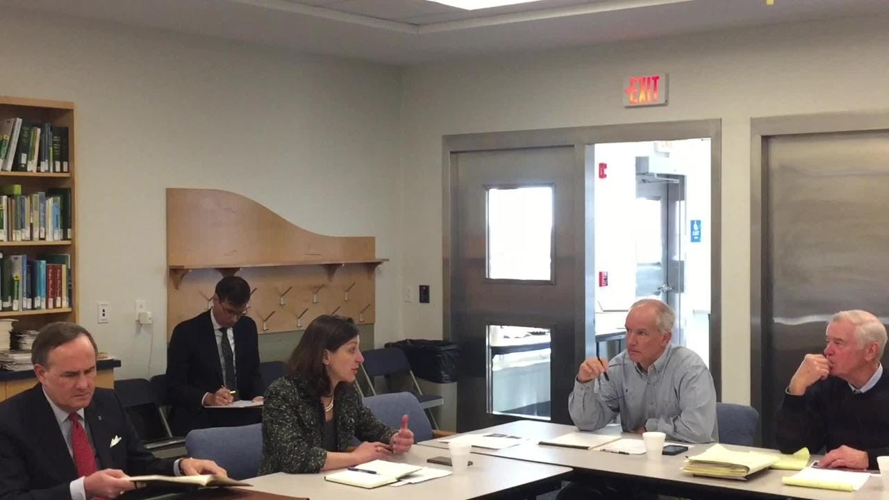 Congresswoman-elect Elaine Luria met with Accomack and Northampton county officials in Wachapreague, Virginia on Monday, Dec. 17, 2018.