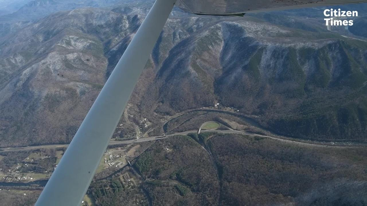 Jeff Hunter, senior program manager with NPCA, talks about helping wildlife navigate crossing the highway during a SouthWings flight.