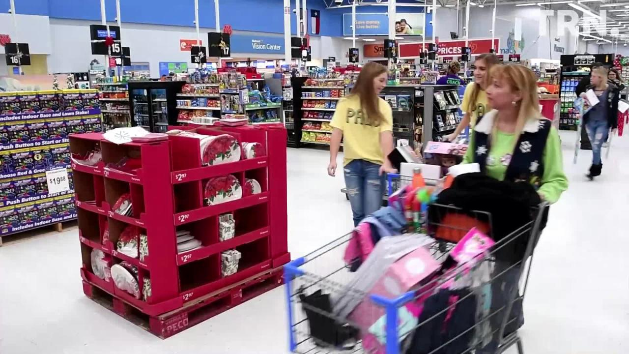 Wichita Falls Police Officers Association and Burkburnett High School PALS students spent Monday Christmas shopping for kids in the Childrens Home