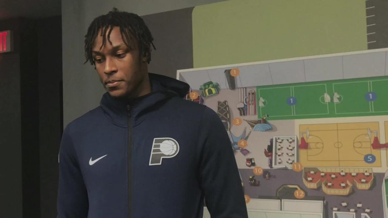 Indiana Pacers Myles Turner talks NBA Finals, his blocks, his hair