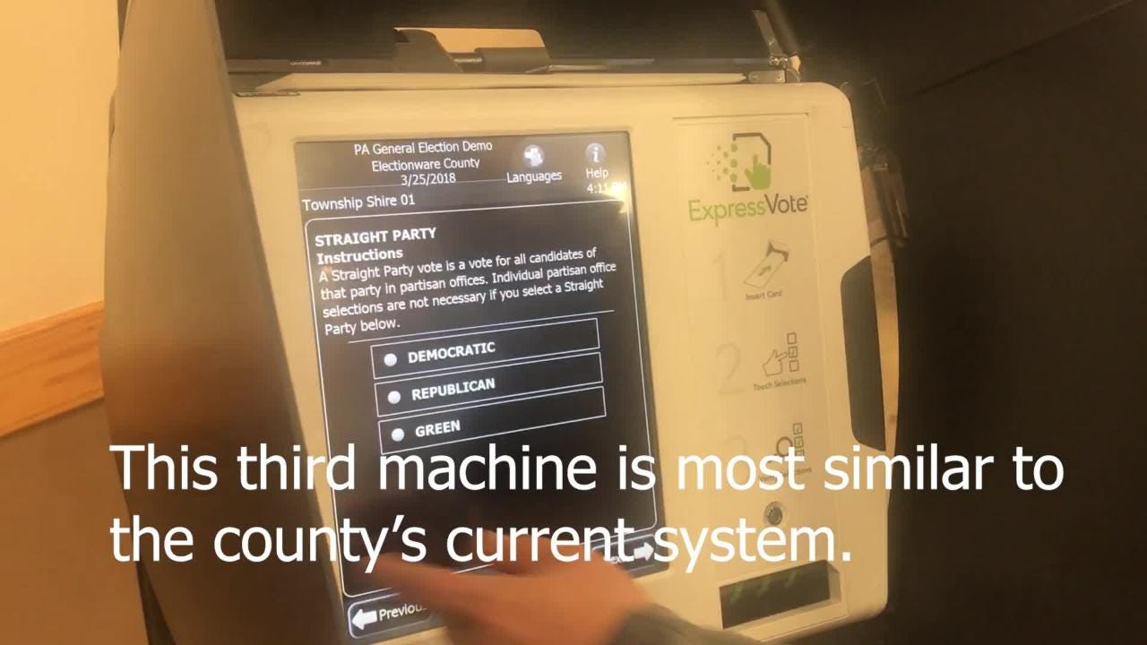 Lebanon County is considering three possible new voting machines, and they want feedback from the public on which one they prefer.