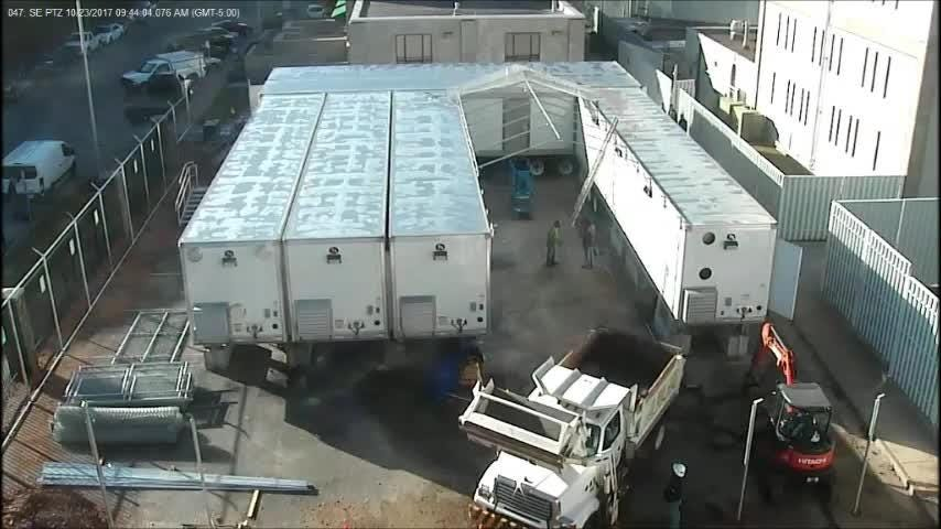This time-lapse video of the construction of the trailer jail was obtained via an open records request to the Greene County Sheriff's Office.