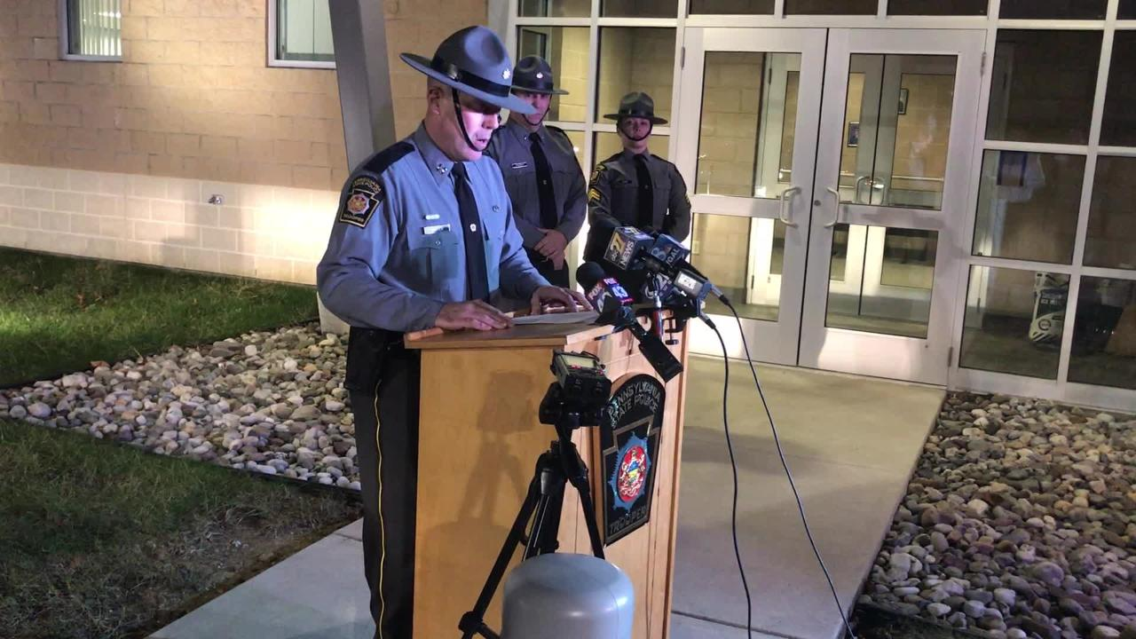State Police Captain Gary Carter describes a state trooper-involved shooting that occurred Tuesday morning in East Hanover Township.
