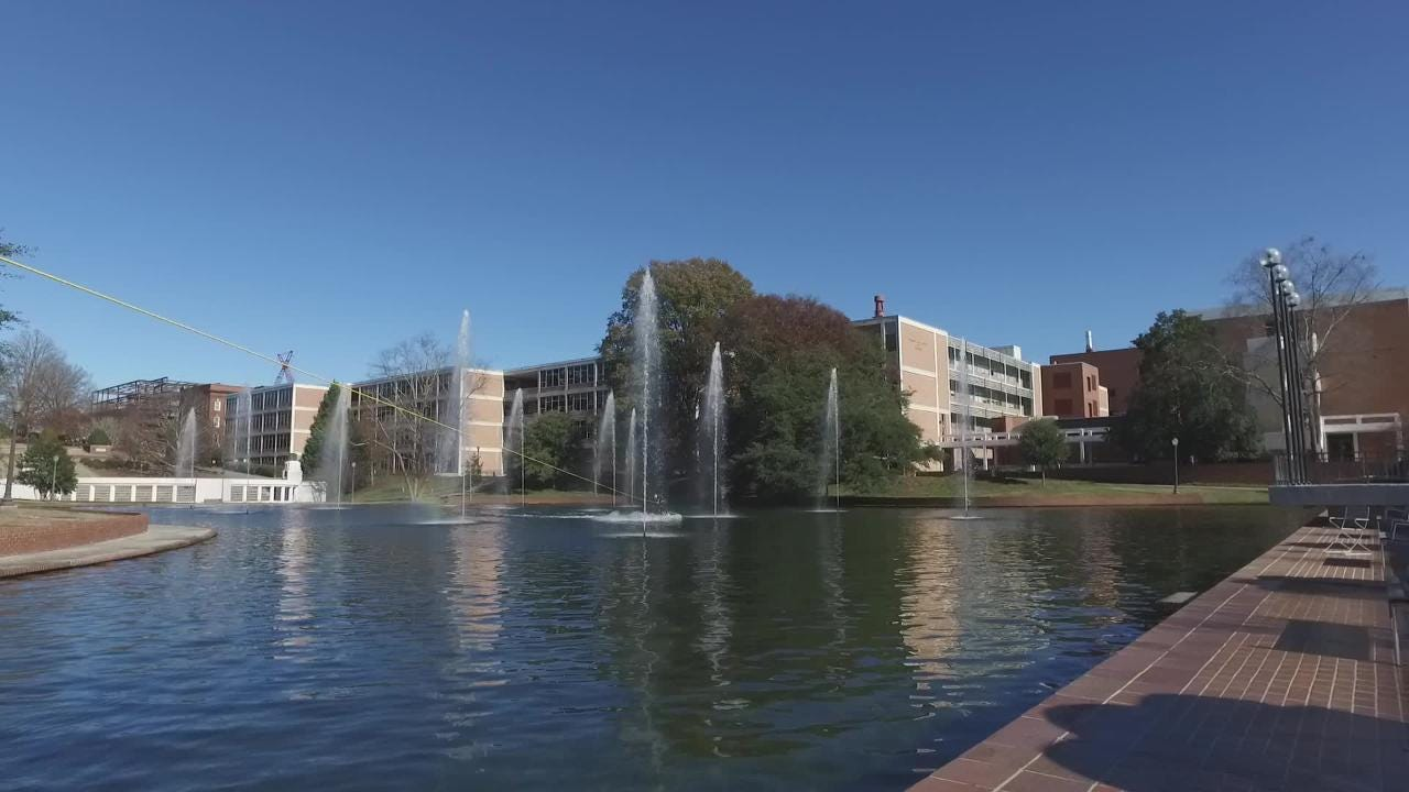 The Clemson senior had been planning to go wakeboarding across the Reflection Pond for years.