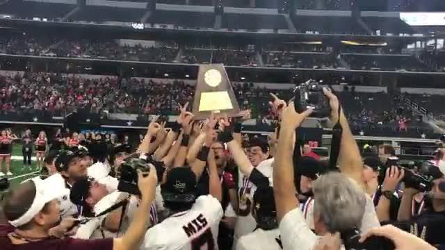 The Strawn football team won its second-straight Class 1A Division II state championship on Wednesday in Arlington, defeating Follett 48-0.