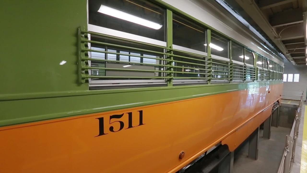 The Jose Cisneros Streetcar Arrives in El Paso