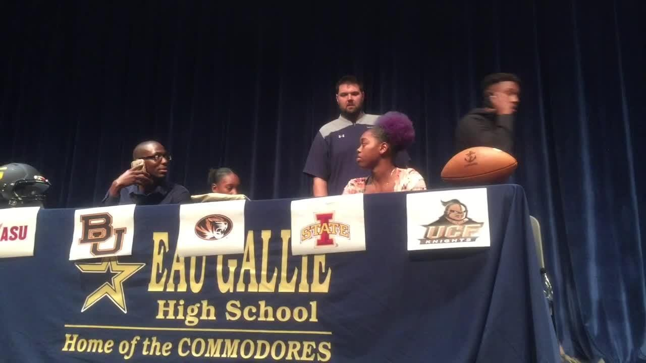 Jarrad Baker Jr. of Eau Gallie signed with UCF football on Wednesday. Posted Dec. 19, 2018.