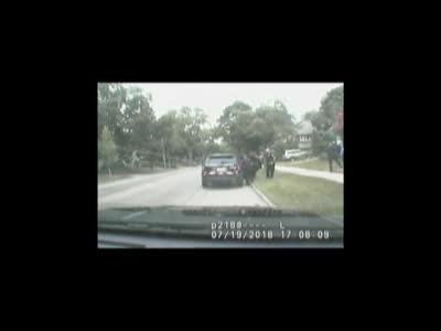 Video of a woman stealing a Wauwatosa police car