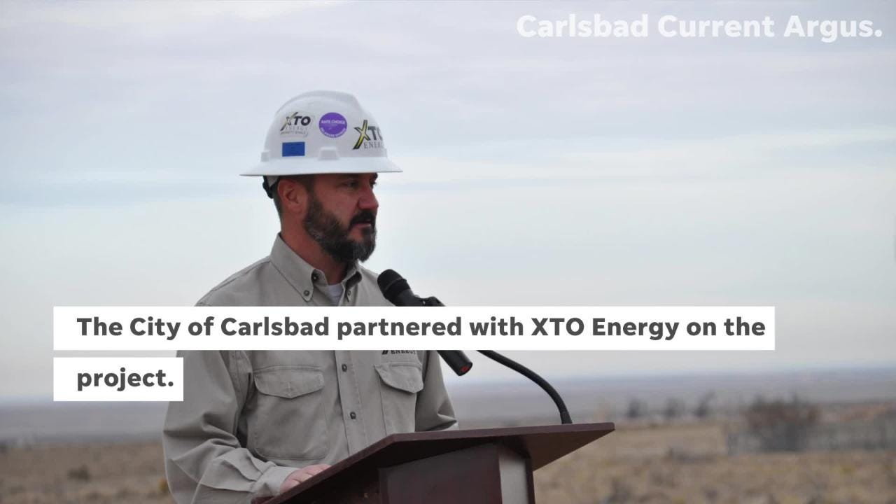 The City of Carlsbad broke ground on Phase 3 of the Double Eagle Water System.