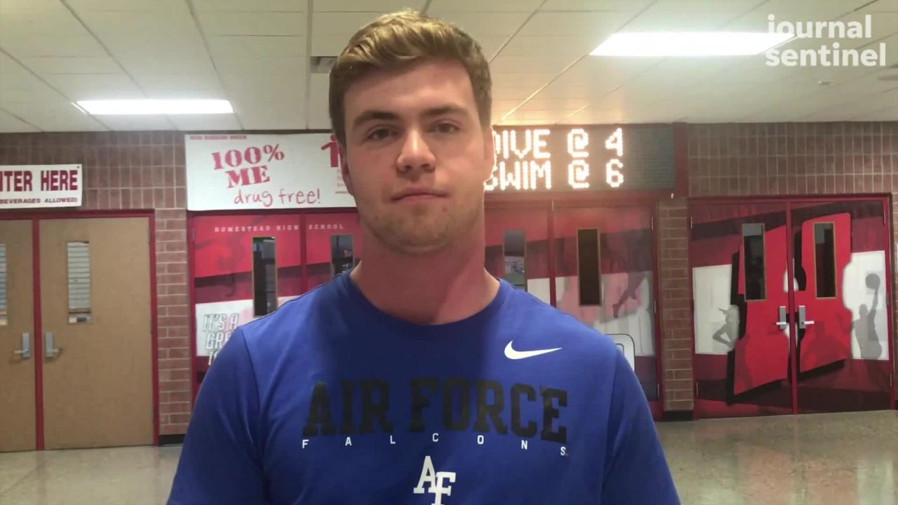 Homestead's Jake Raddatz explains what appeals to him about playing for the Air Force Academy.