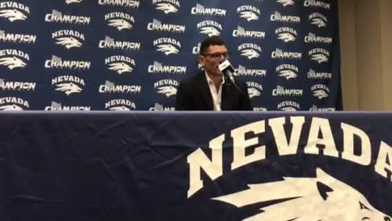 Nevada football coach Jay Norvell talks about the Wolf Pack recruiting class on Wednesday.