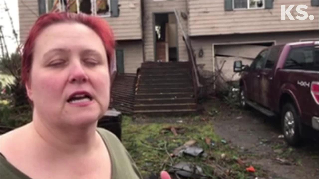 Aaron and Tawnya Cope Crain describe a tornado ripping through their Port Orchard home.