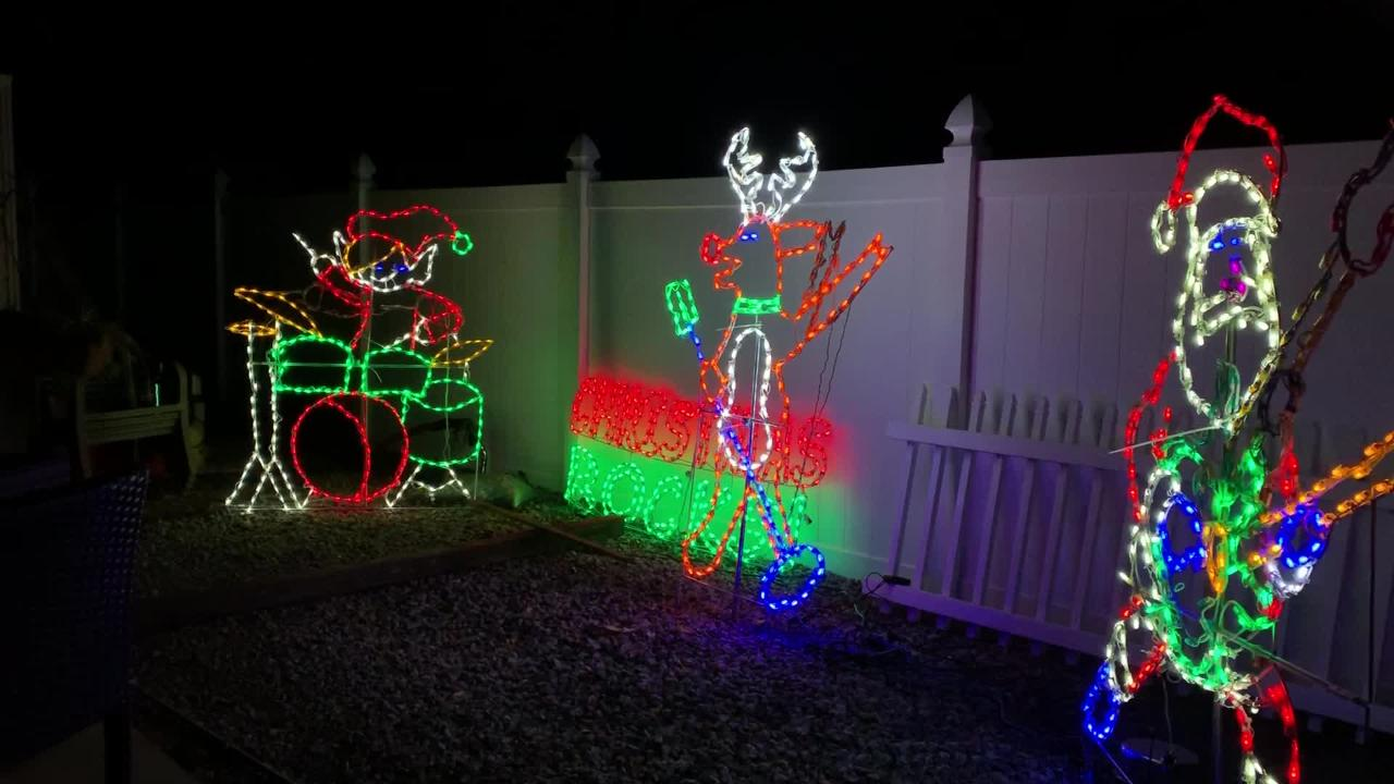Christmas Light Displays.Video Christmas Display In Fort Myers