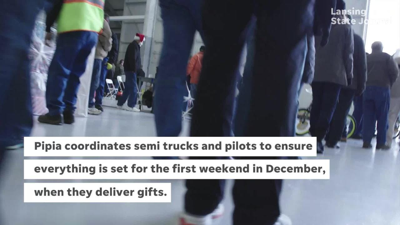 A Michigan man helps deliver gifts to thousands of foster kids through Operation Good Cheer.  Photos and video provided by Koch Industries.