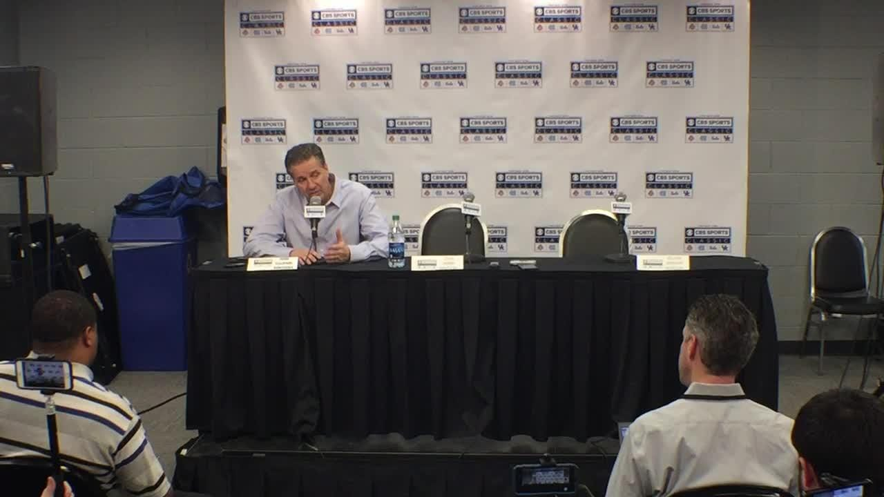 UK coach John Calipari's post-game news conference after a win over North Carolina