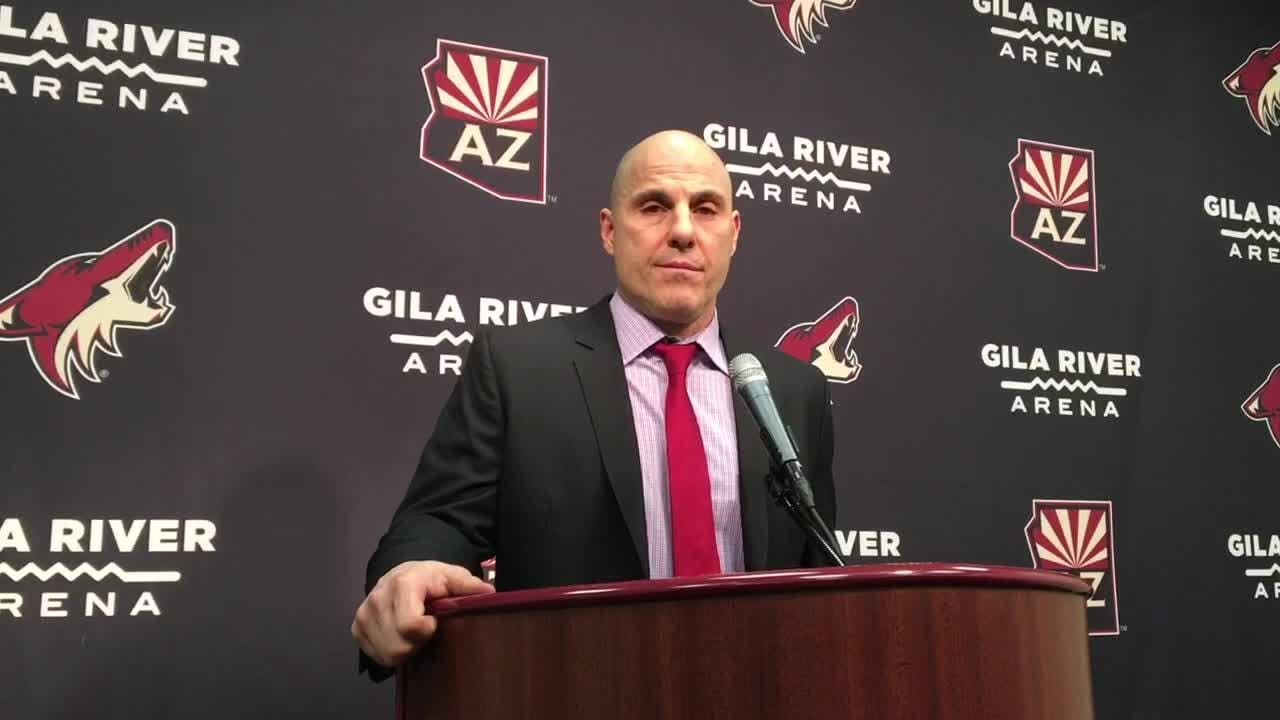 Rick Tocchet discusses Coyotes breaking out of scoring slump vs. Avalanche