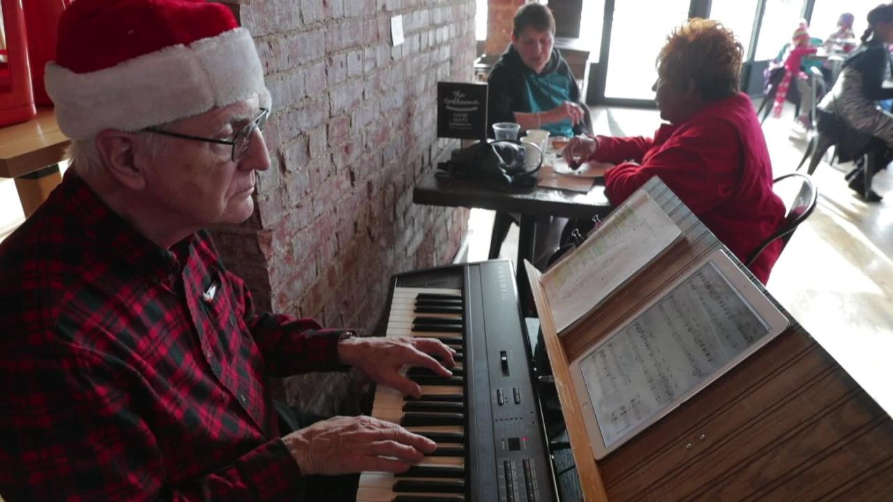 Neidhammer Coffee Co opened with volunteers to serve treats to people on Christmas who could use company.