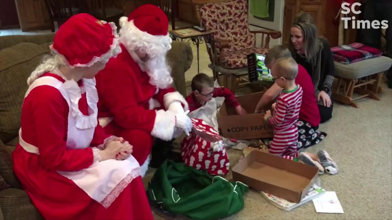 UCP of Central Minnesota gave adapted toys to Camran and other children Christmas day. Camran received an electronic dinosaur and water gun.