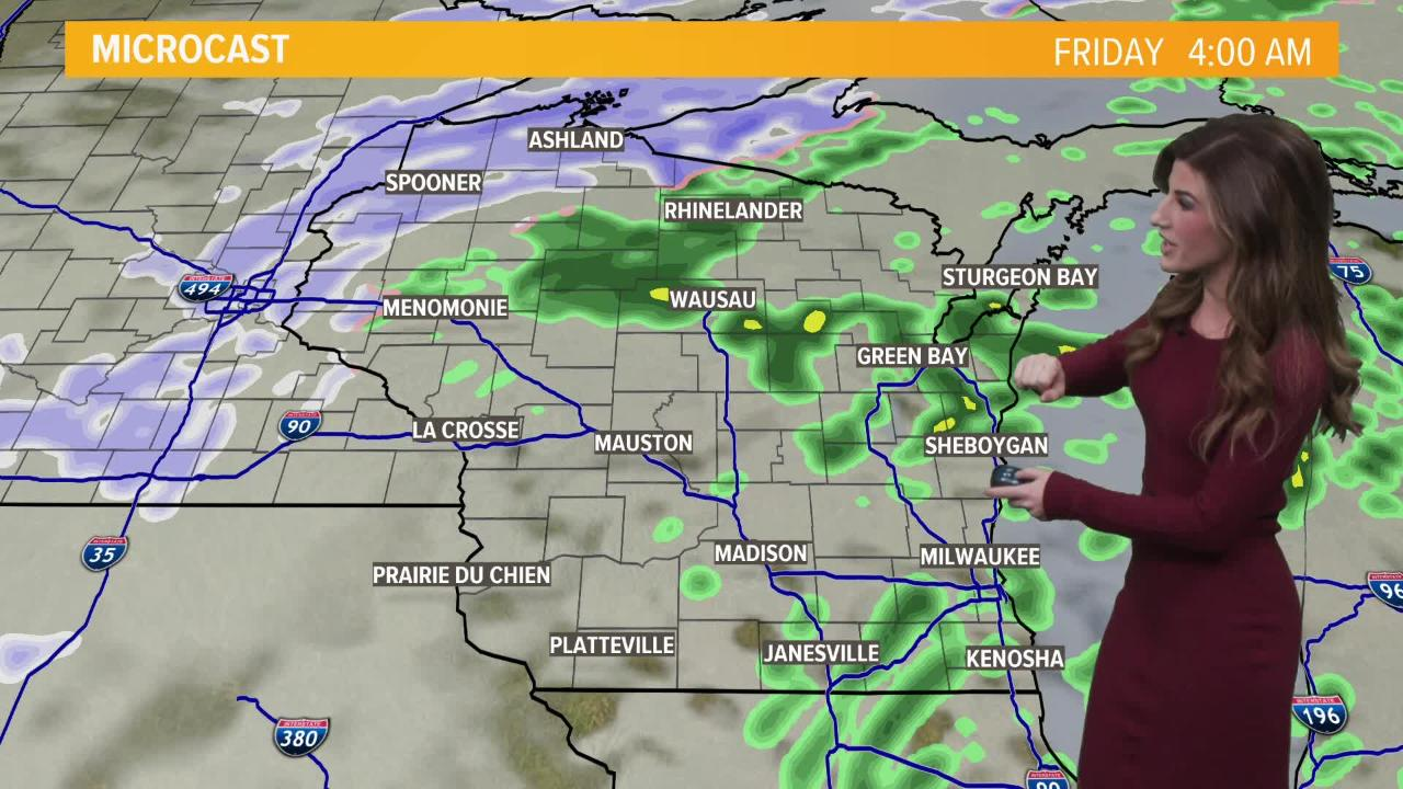 Watch today's forecast for details about what kind of weather to expect the next few days.