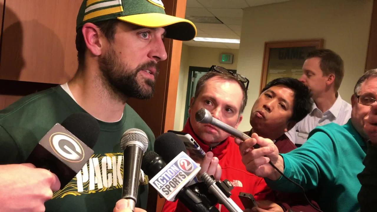 Packers QB Aaron Rodgers talks about what's on the line in the season finale and how he'll be playing for his teammates and interim coach Joe Philbin.