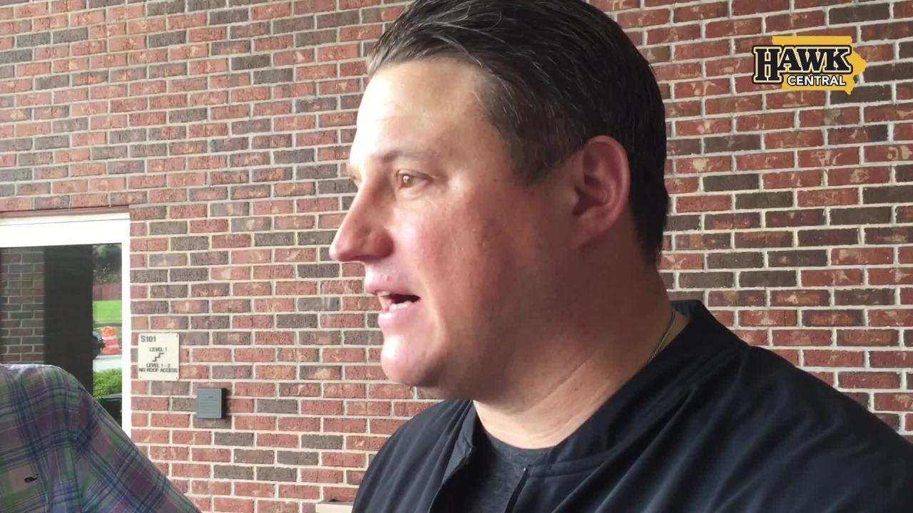 Iowa offensive coordinator Brian Ferentz spent four years in the NFL on staff with the New England Patriots.