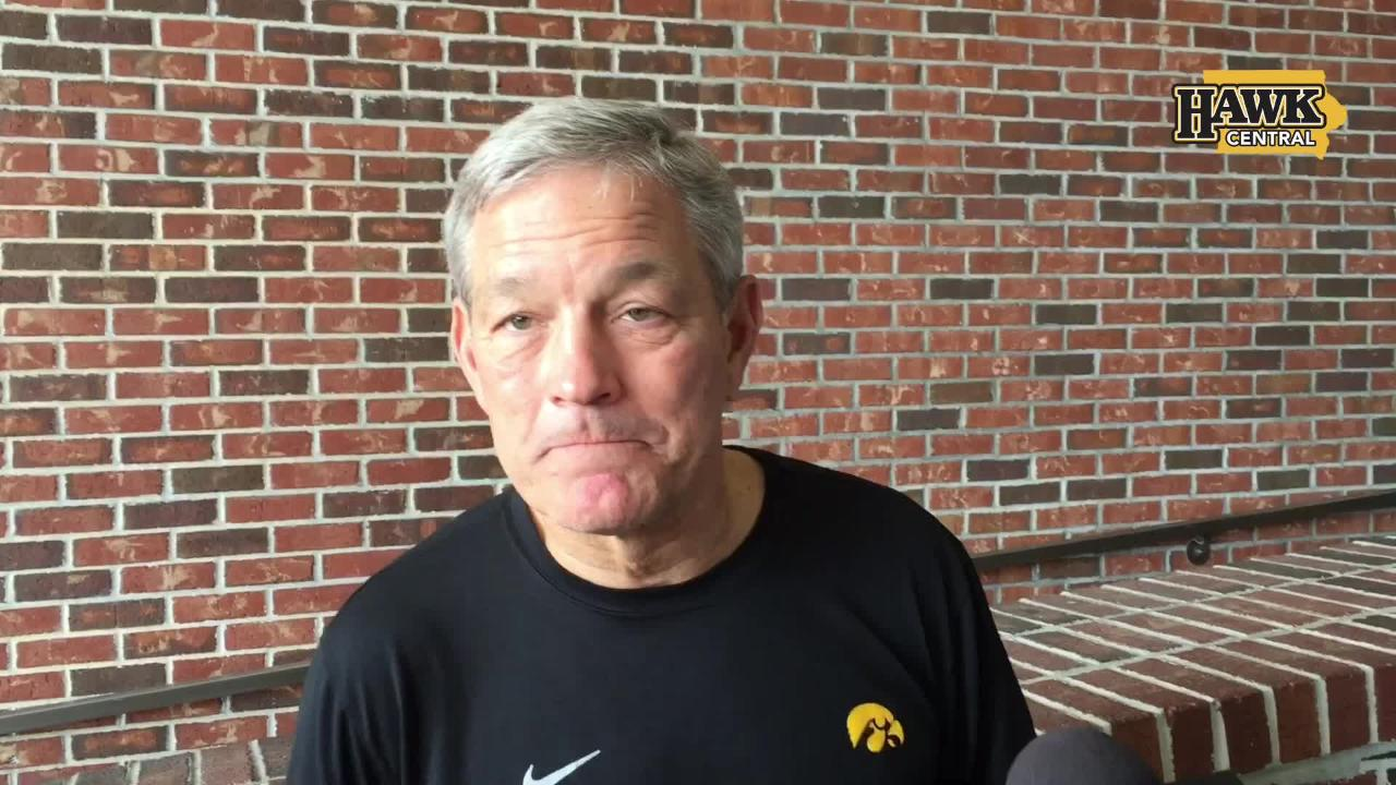 Iowa head coach Kirk Ferentz addressed media members for about 10 minutes after a Dec. 27 practice in Tampa. Here are some of the highlights.