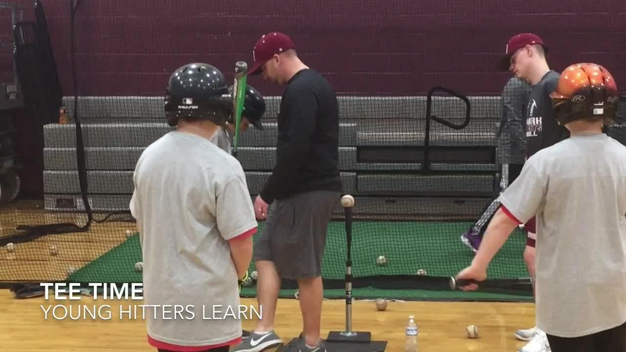 Major League Baseball pitcher Derek Holland returned to Newark High School and conducted his annual clinic.