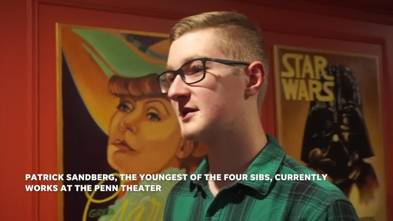 All four of the Sandberg kids started out volunteering, then working at the Penn Theater.