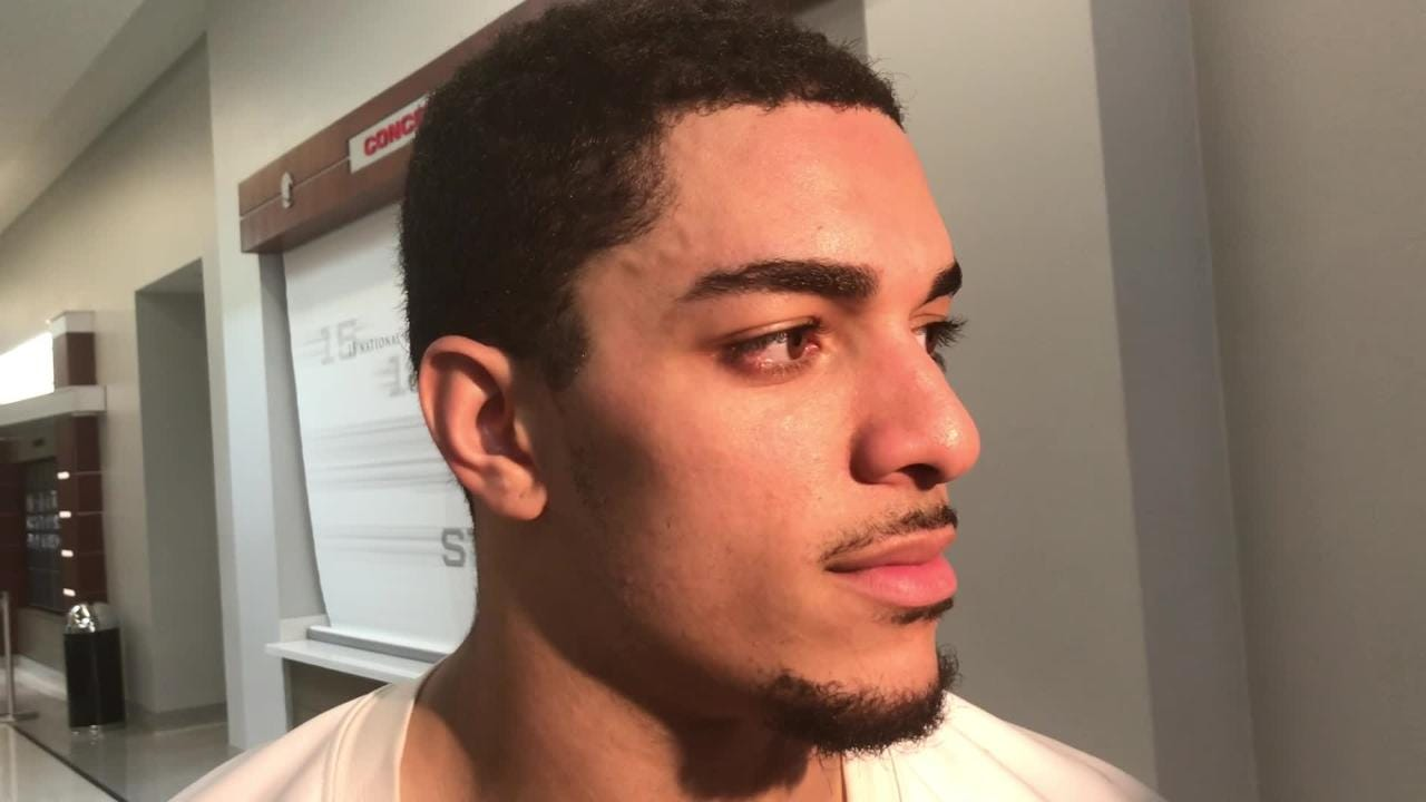 Iowa safety Amani Hooker breaks down the Mississippi State offense, and offers his thoughts on his hockey performance: