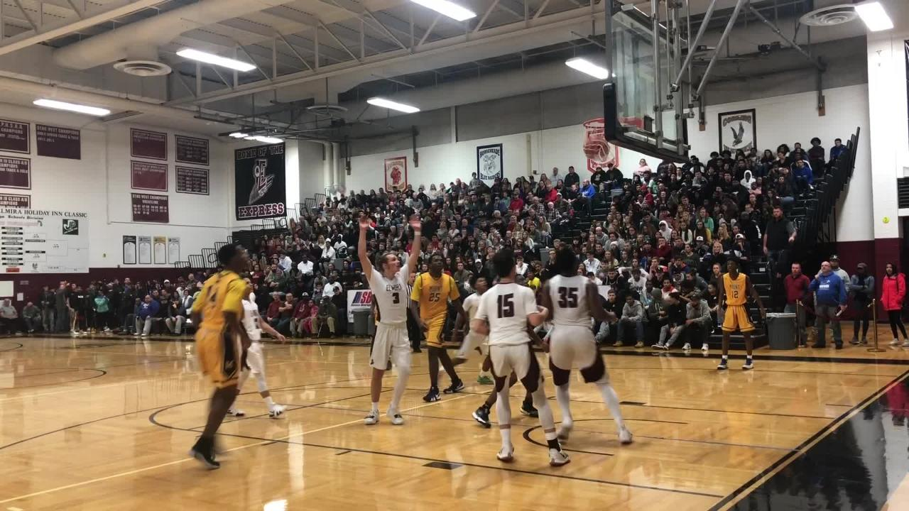 Elmira was a 49-46 winner over Mount St. Michael Academy in a National Division quarterfinal at the Josh Palmer Classic on Dec. 28, 2018 at Elmira HS.