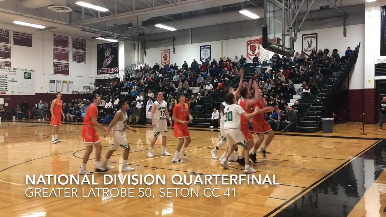 Highlights from three of the Josh Palmer Fund Elmira Holiday Inn Classic National Division quarterfinals Dec. 28. 2018 at Elmira High School.